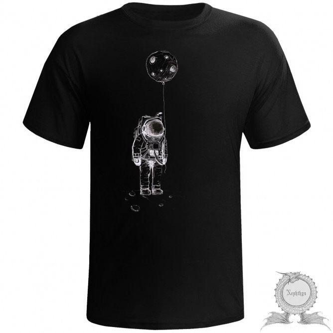 Camiseta Masculina Astronauta Preta