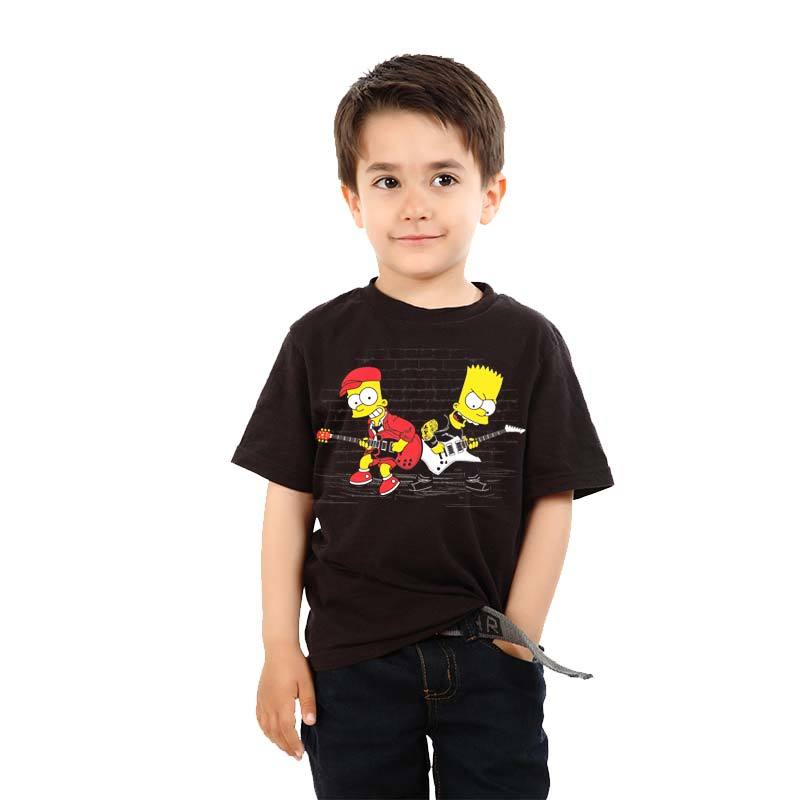 Camiseta Bart Simpsons Duelo de Guitarra – Camisetas Roquenrou