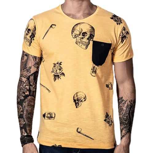 Camiseta Caveira Yellow