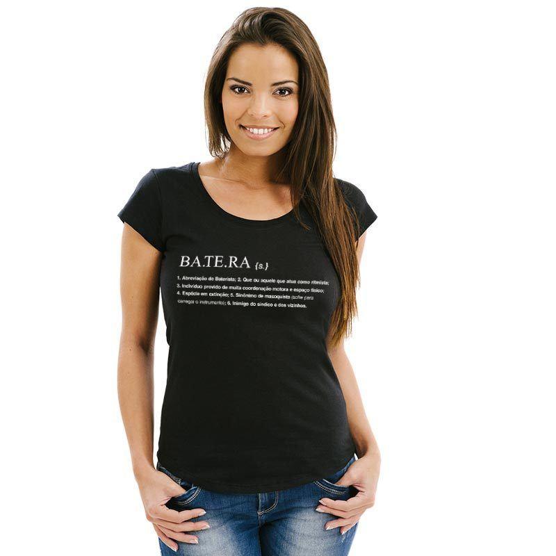 Camiseta Dicionário Batera Feminina