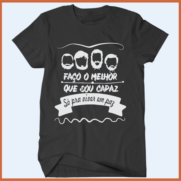 Camiseta Los Hermanos Faço O Melhor Que Sou Capaz - Camisetas Rápido