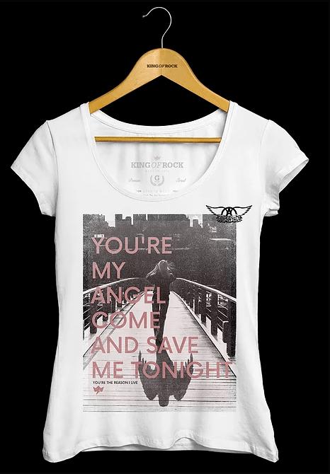Camiseta Feminina Aerosmith