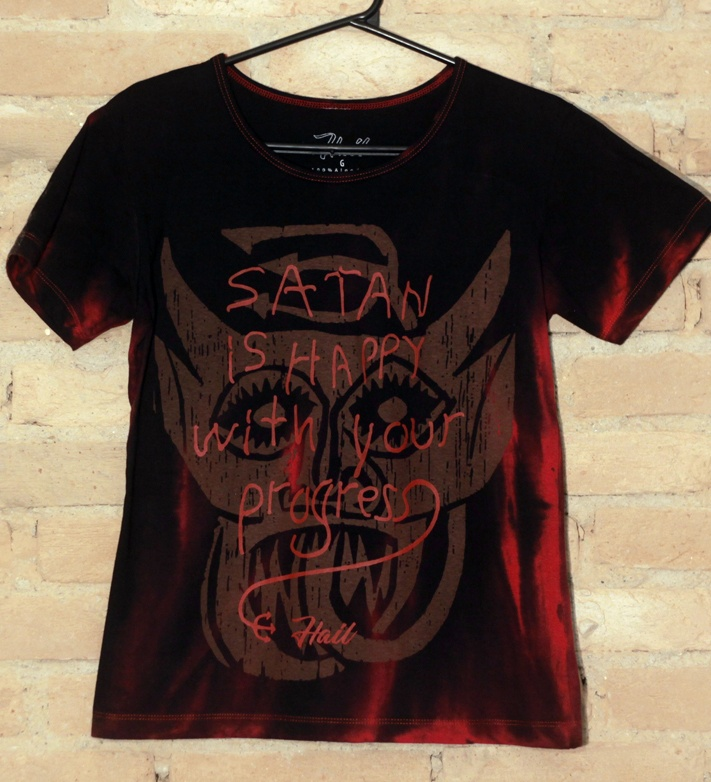 Camiseta Feminina Satan is Happy - Hail Custom Wear