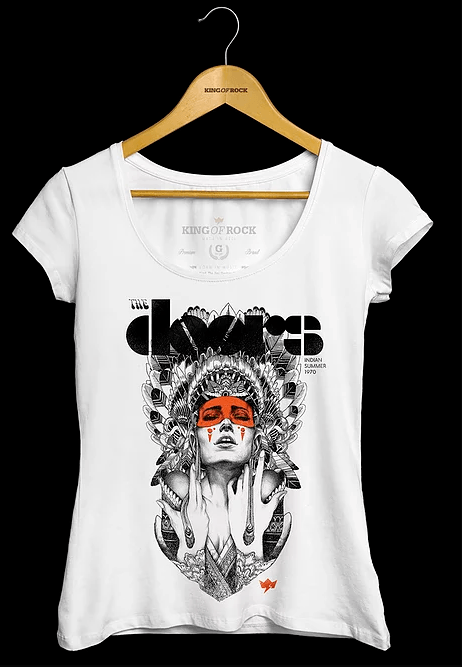 Camiseta Feminina The Doors