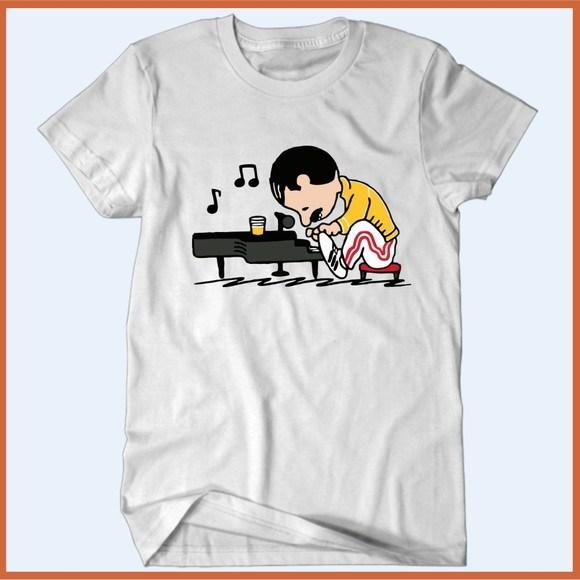 Camiseta Freddie Mercury Lino - Camisetas Rápido