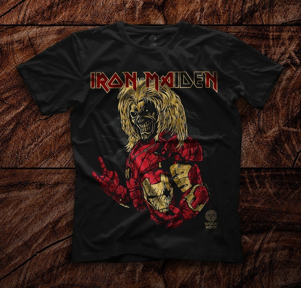 Camiseta Iron Maiden – Wood Rock