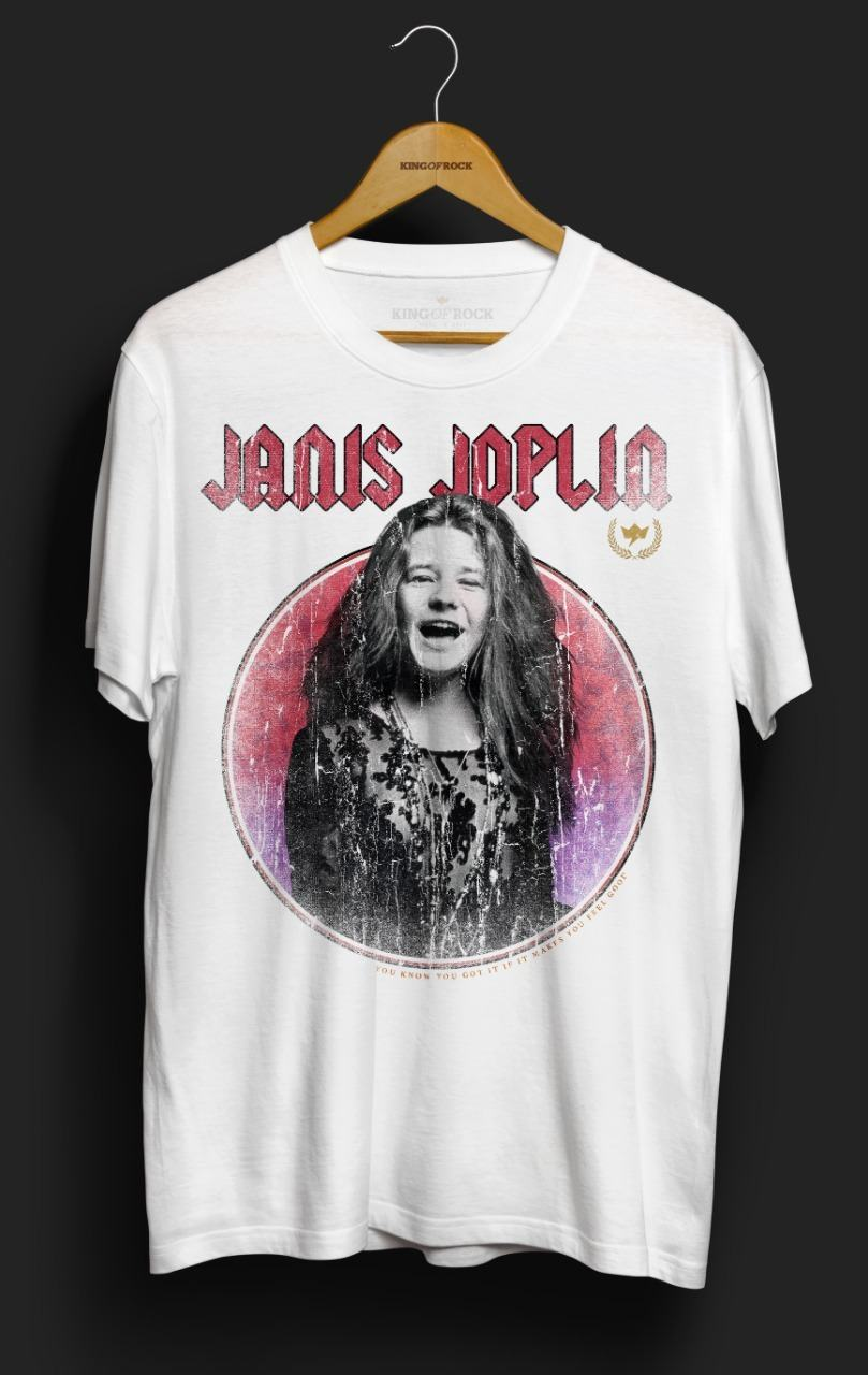 Camiseta Janis Joplin – King of Rock