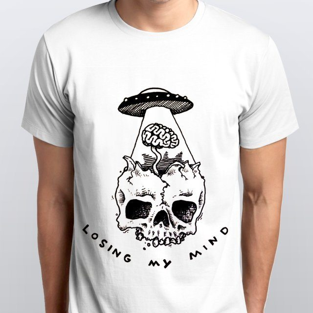 Camiseta Masculina Losing My Mind Branca