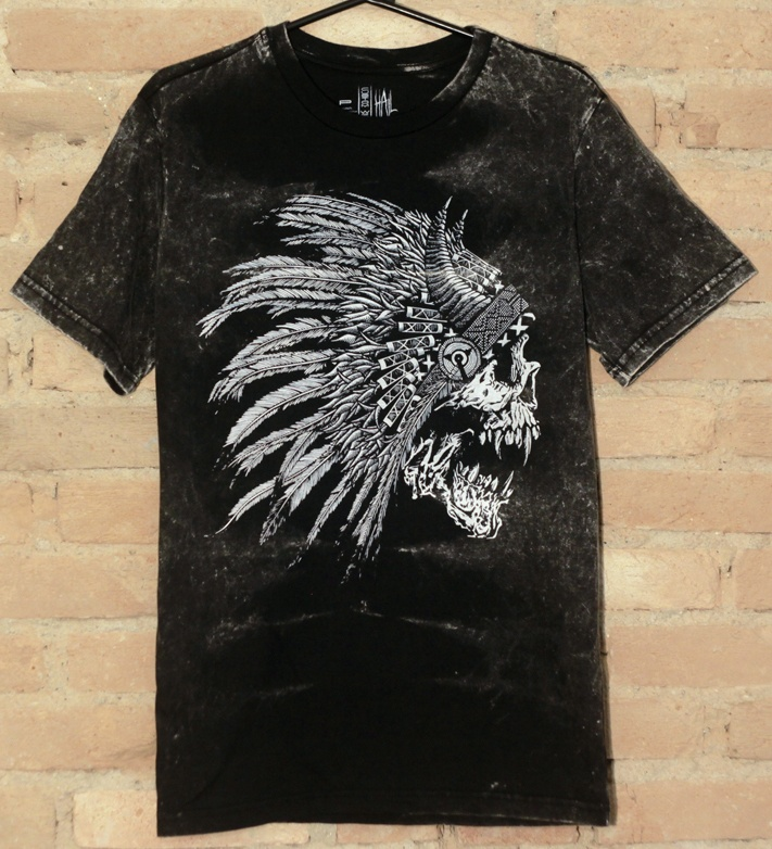 Camiseta Masculina Black White Indian - Hail Custom Wear