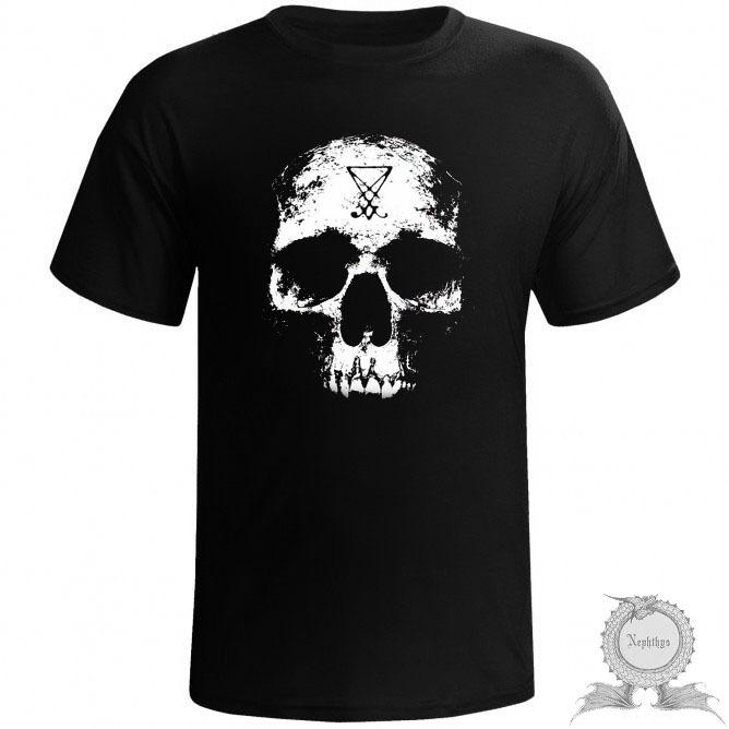 Camiseta Masculina Caveira Preta