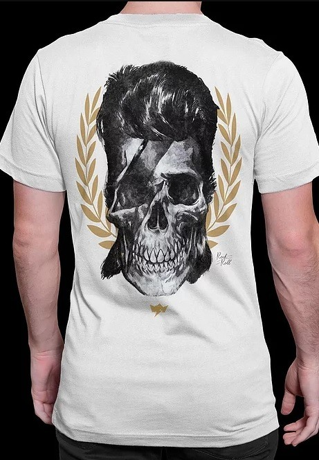Camiseta Masculina Bowie - Skull Colection