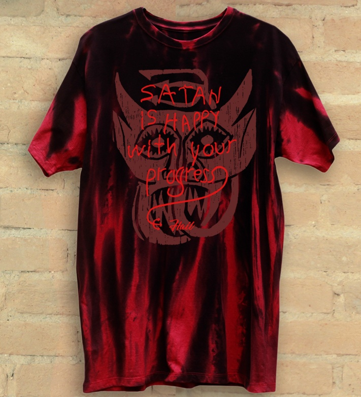 Camiseta Masculina Satan is Happy - Hail Custom Wear