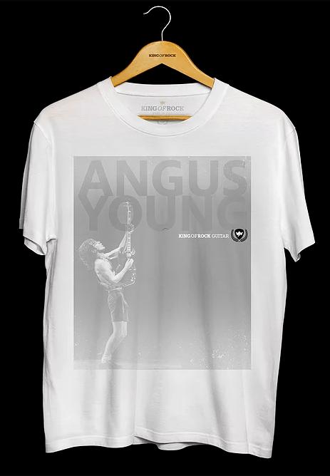 Camiseta Masculino Angus Young Branca