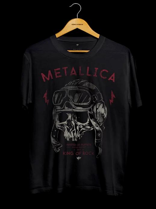 Camiseta Masculina Metallica - Skull Collection