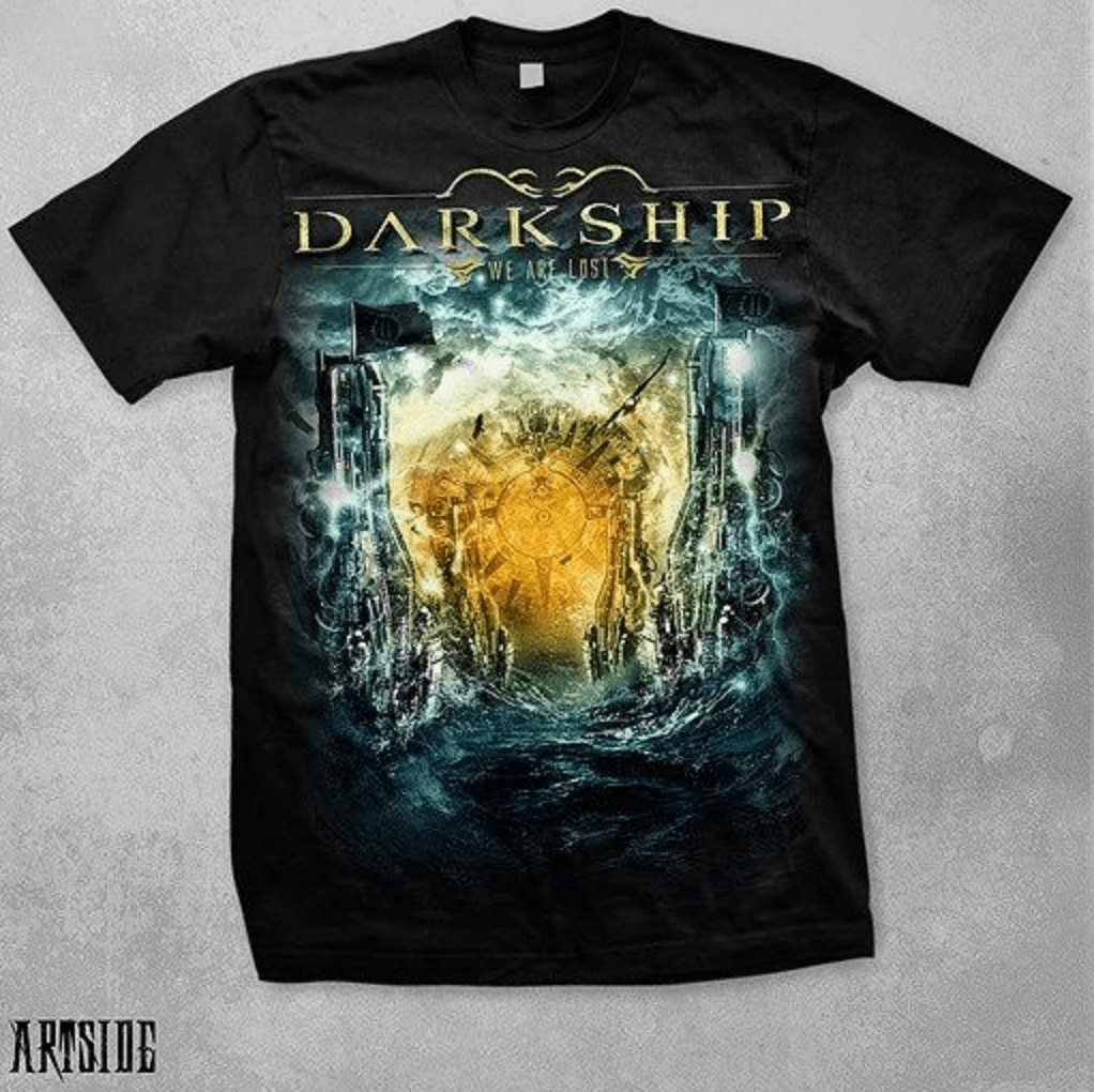 Camiseta Preta Darkship We Are Lost