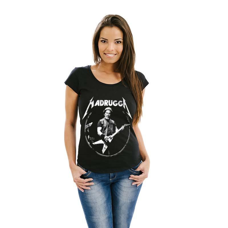 Camiseta Seu Madruga Metallica Feminina