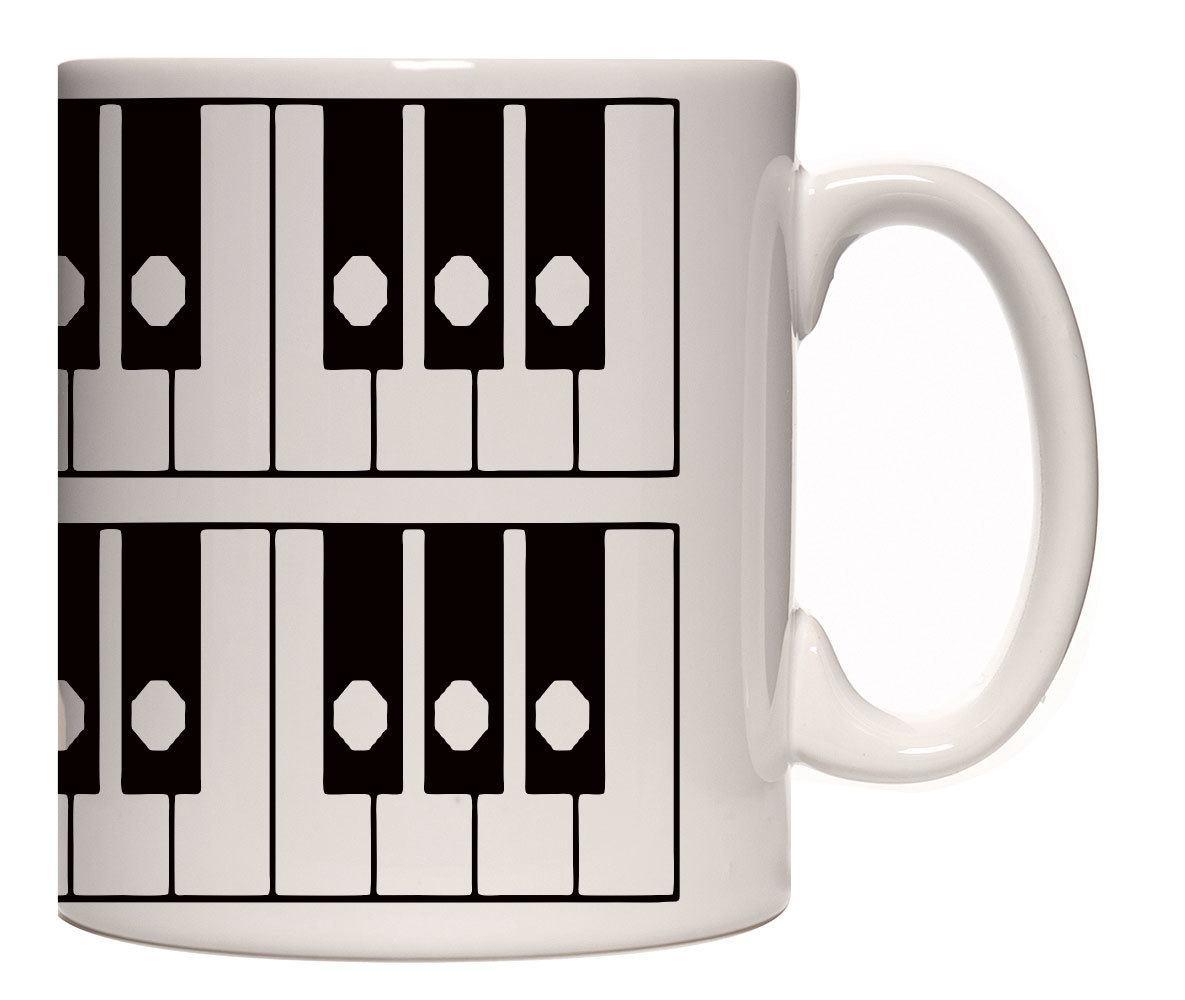 Caneca porcelana diagrama teclado piano