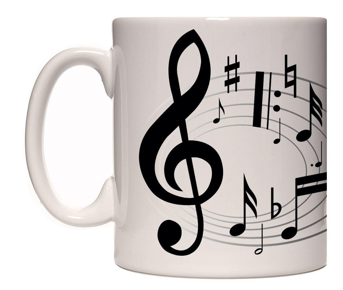 Caneca porcelana notas musicais (mod12)