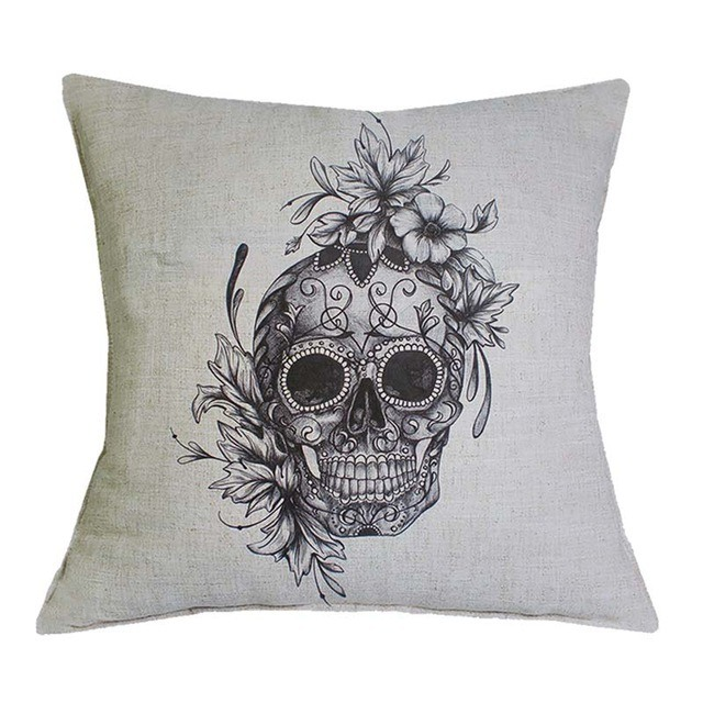 Capa Para Almofada Skull Basic