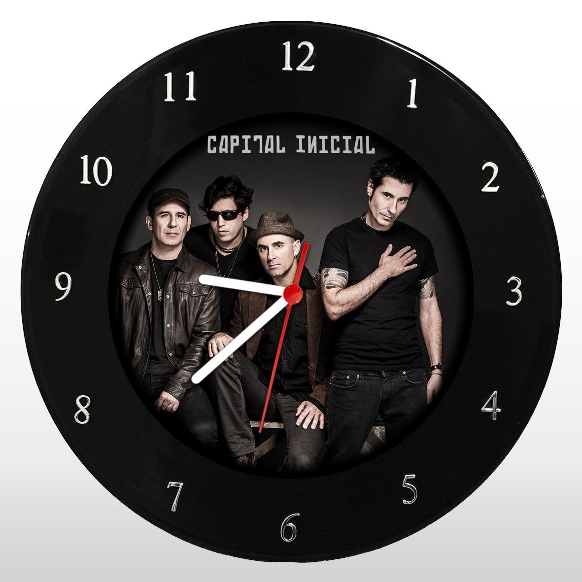 Capital Inicial - Relógio de Parede em Disco de Vinil - Mr. Rock
