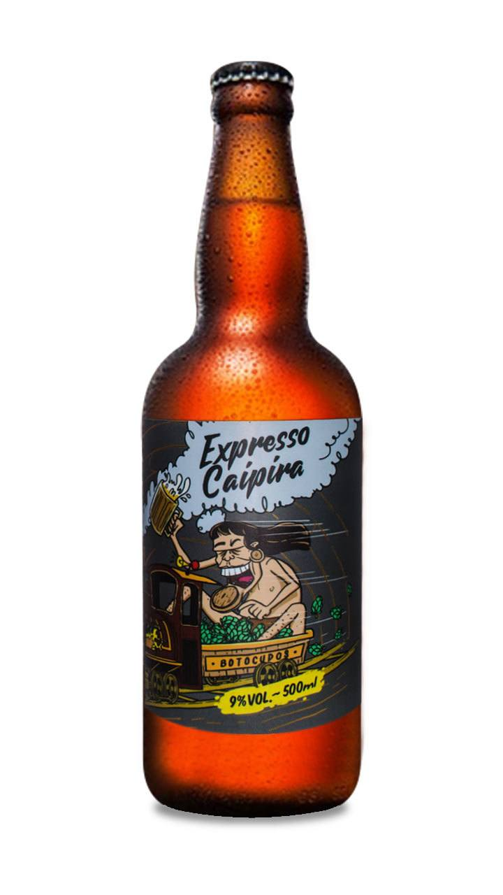 Cerveja Botocudos Expresso Caipira Double IPA 500ml