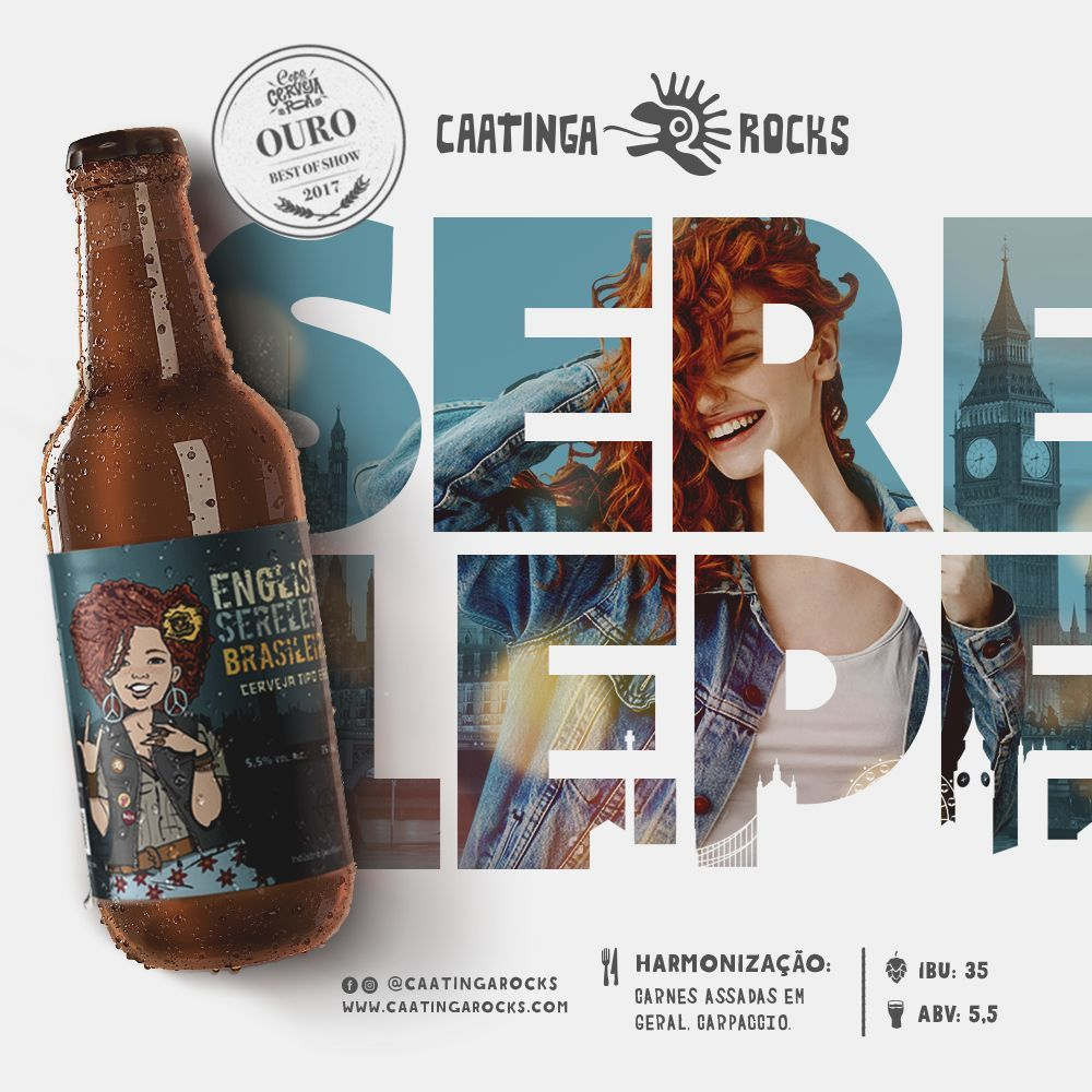 Cerveja Caatinga Rocks Serelepe 500ml