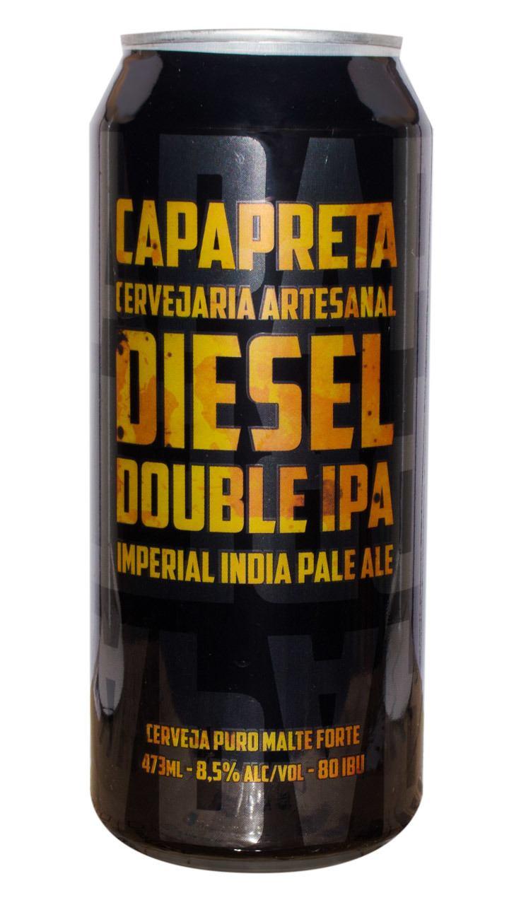 Cerveja Capa Preta Diesel Double IPA 473ml