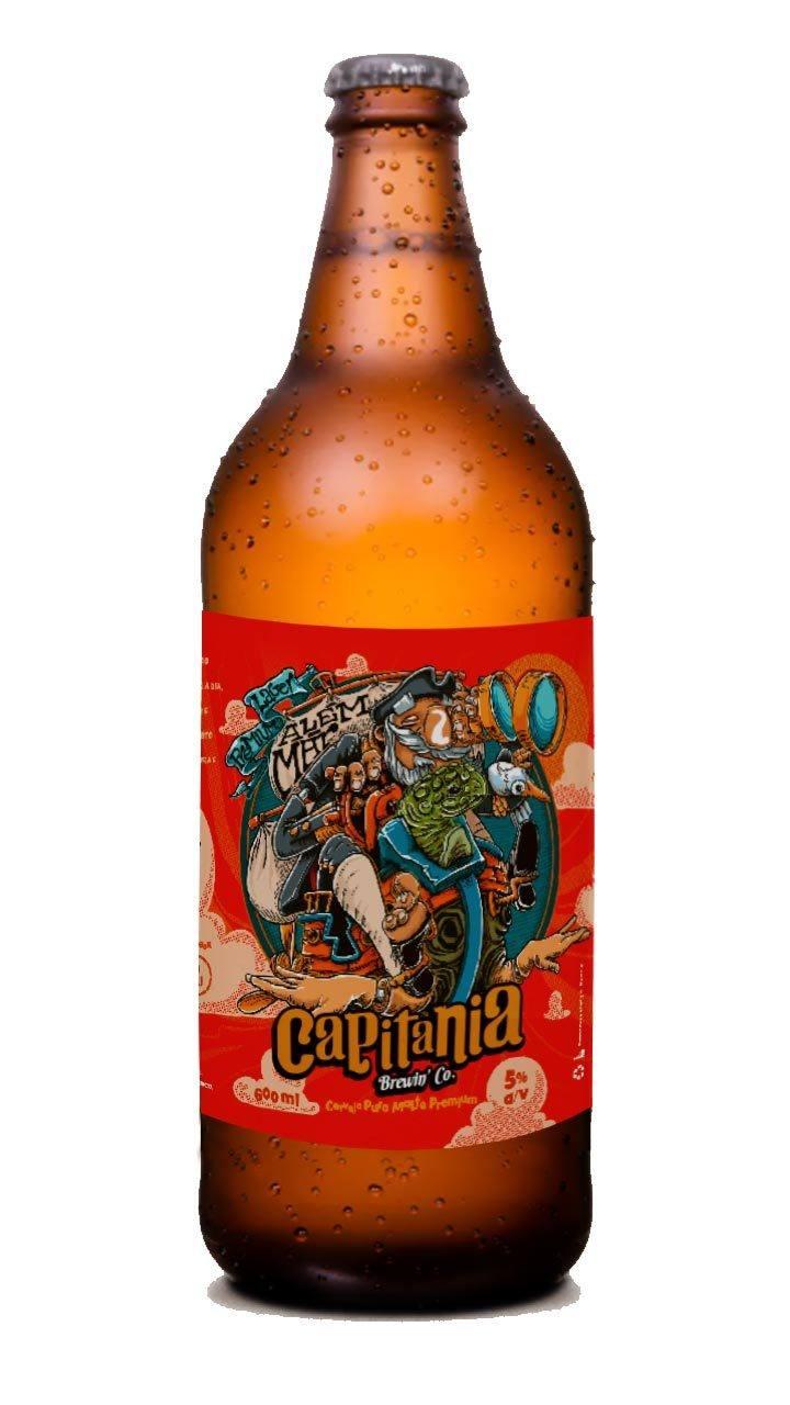 Cerveja Capitania Além Mar Premium Lager 600ml