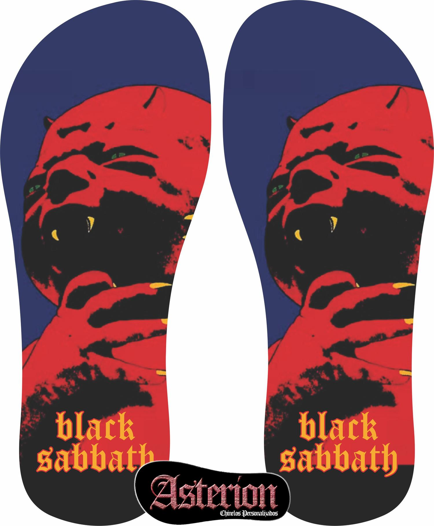 Chinelo Black Sabbath  – Asterion Chinelos Personalizados