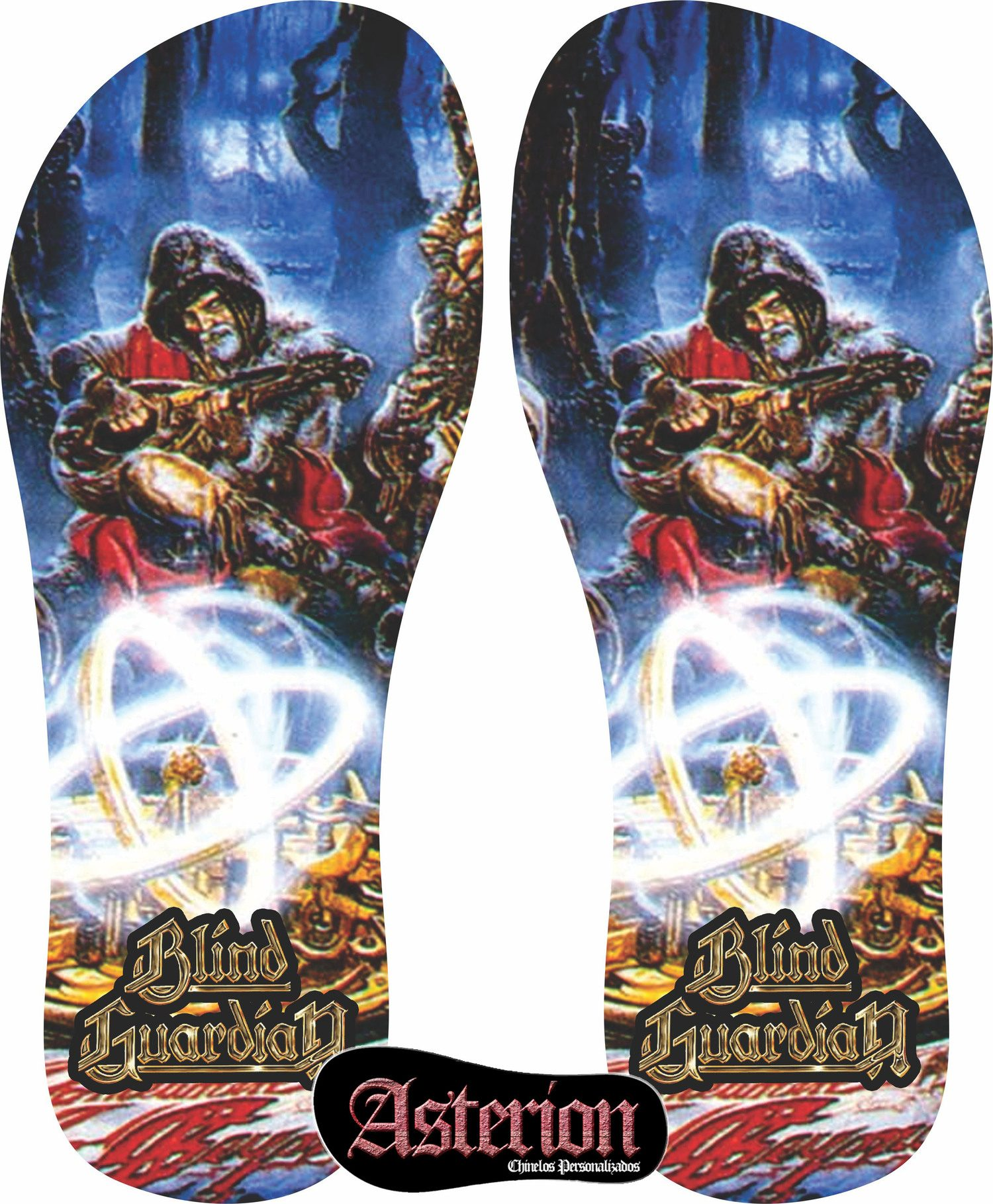 Chinelo Blind Guardian  – Asterion Chinelos Personalizados