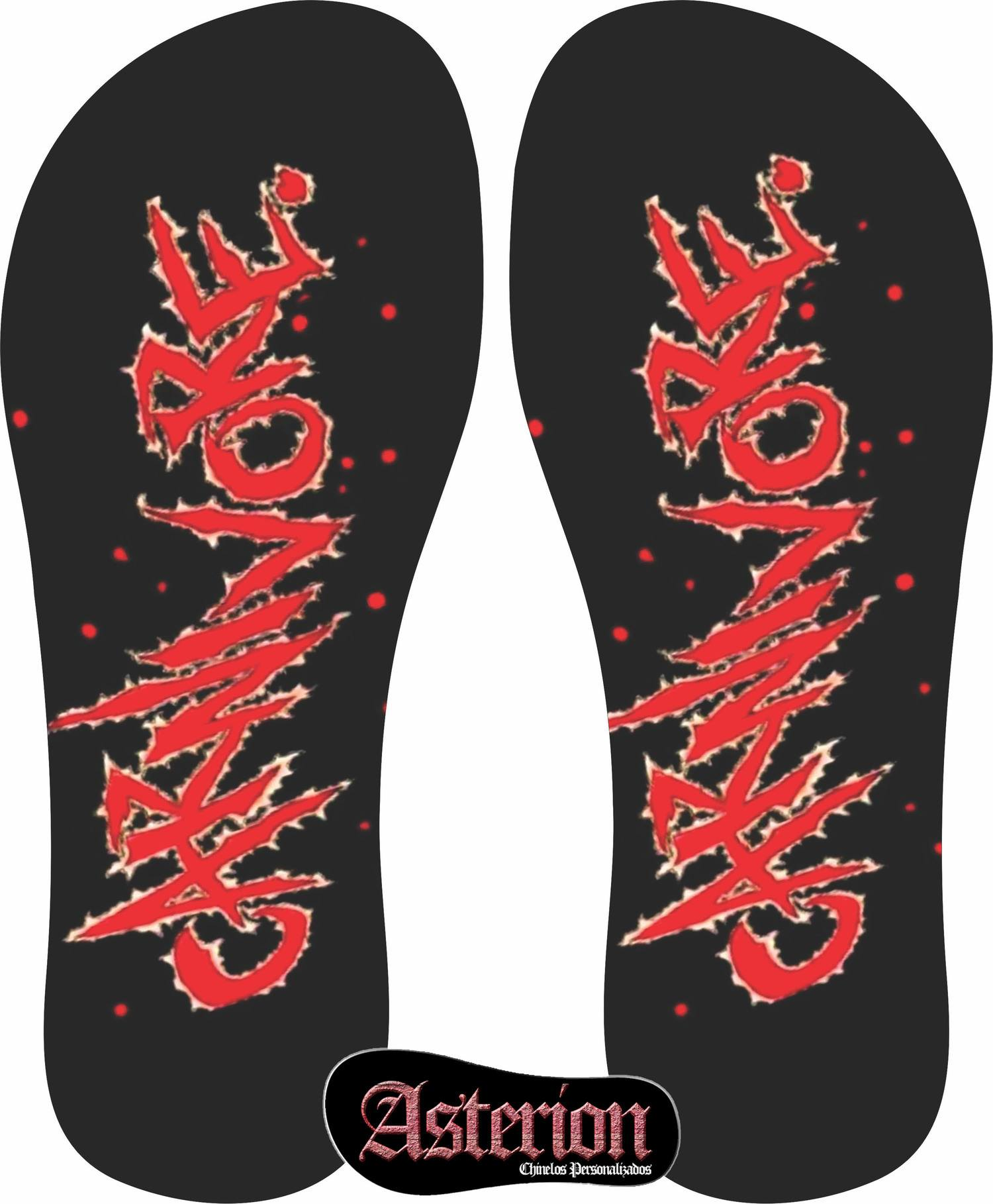 Chinelo Carnivore  – Asterion Chinelos Personalizados
