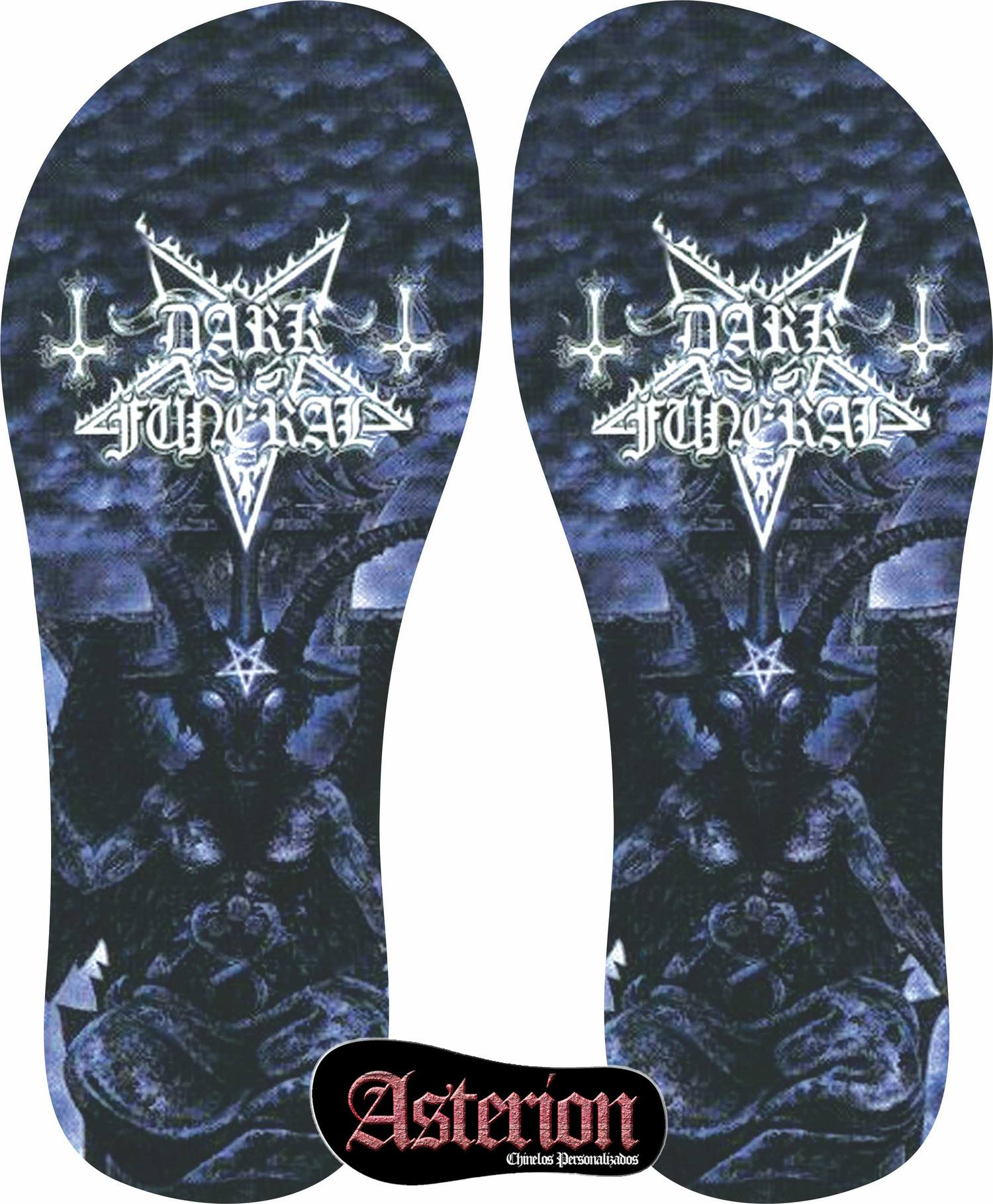 Chinelo Dark Funeral – Asterion Chinelos Personalizados