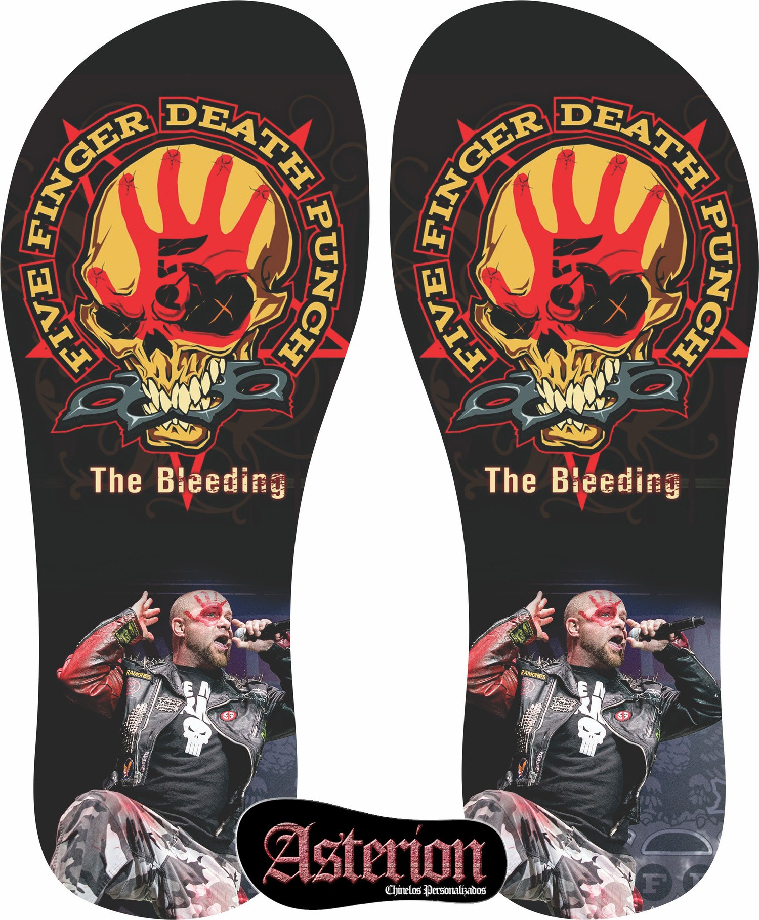 Chinelo Five Finger Death Punch – Asterion Chinelos Personalizados