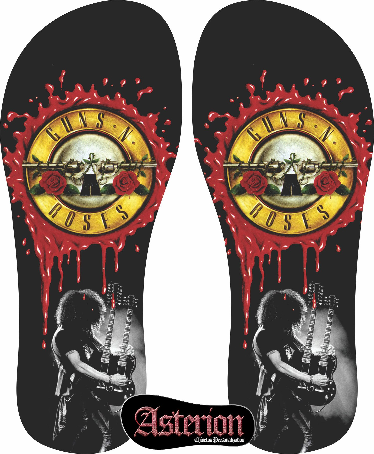 Chinelo Guns n Roses  – Asterion Chinelos Personalizados