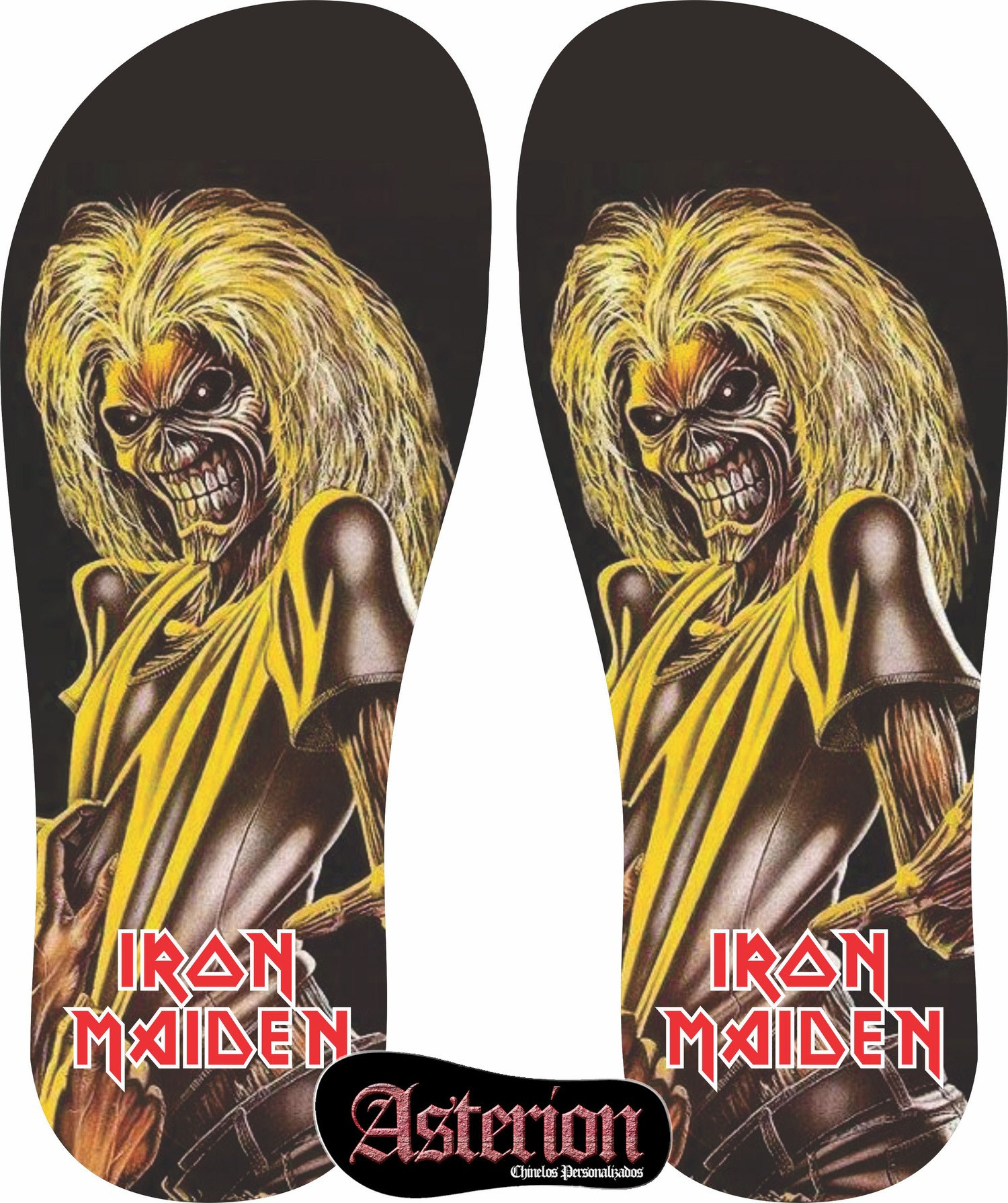 Chinelo Iron Maiden – Asterion Chinelos Personalizados