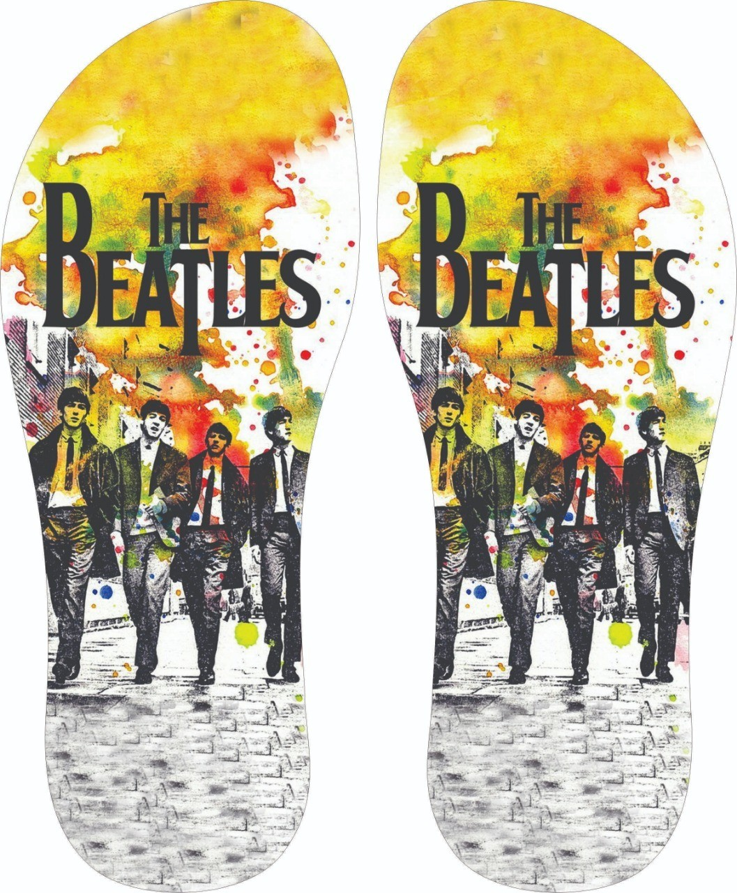Chinelo The Beatles - Asterion Chinelos Personalizados