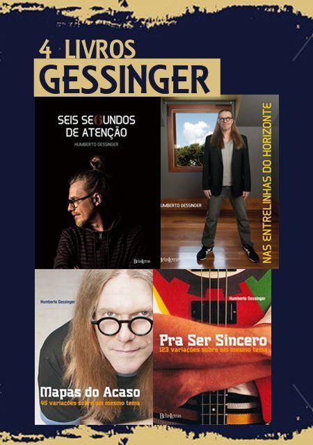 Combo Humberto Gessinger 4 livros - Editora Belas Letras
