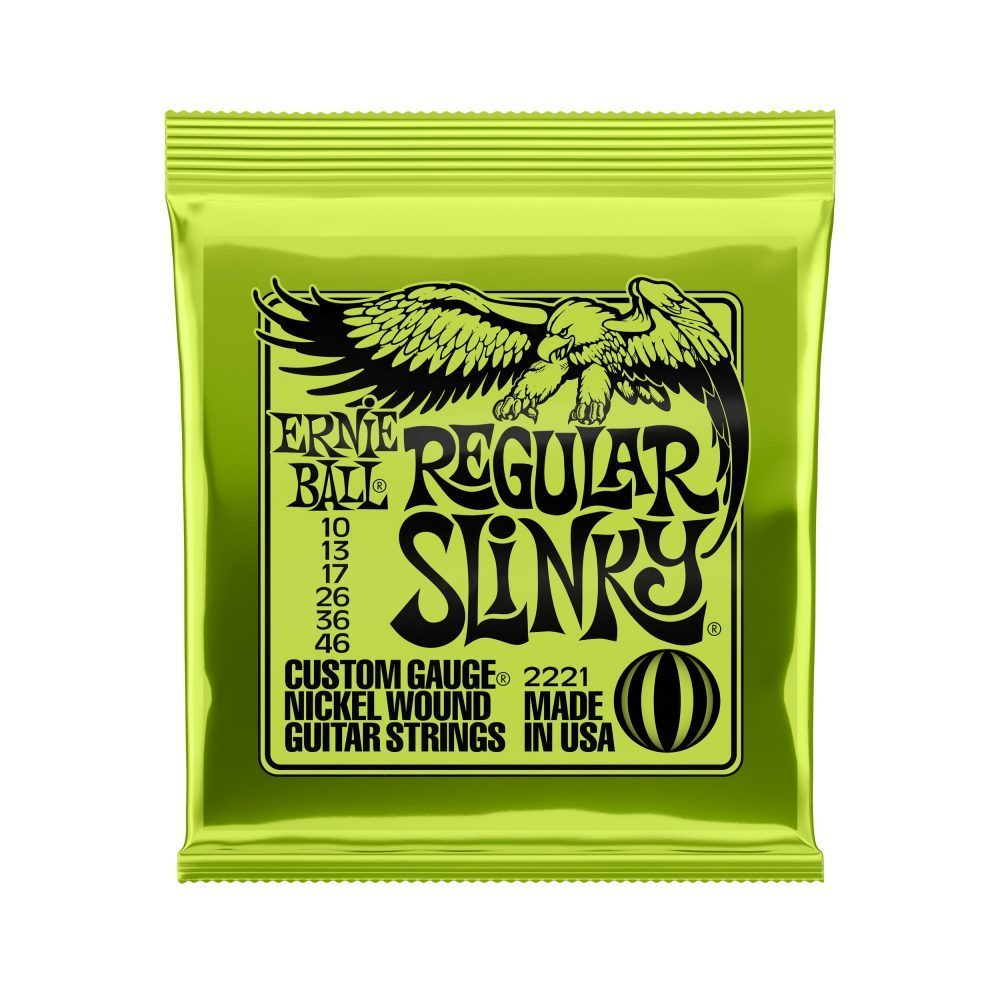 Corda para Guitarra Ernie Ball Regular Slinky – (.010/.046)