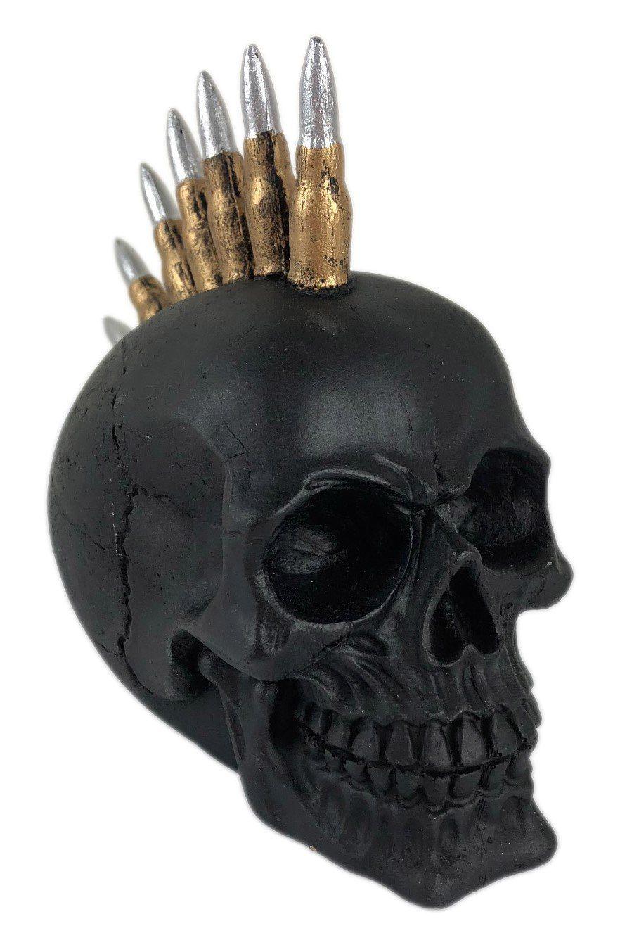 Crânio Caveira Skull Bala Fuzil Decorativo Resina