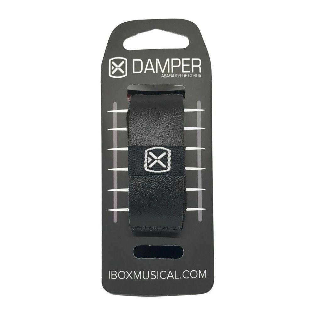 Damper Abafador de Corda Para Violão, Guitarra e Baixo Ibox Preto - DSSM02