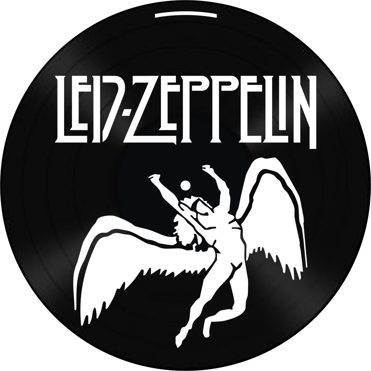 Disco de Vinil Decorativo Led Zeppelin