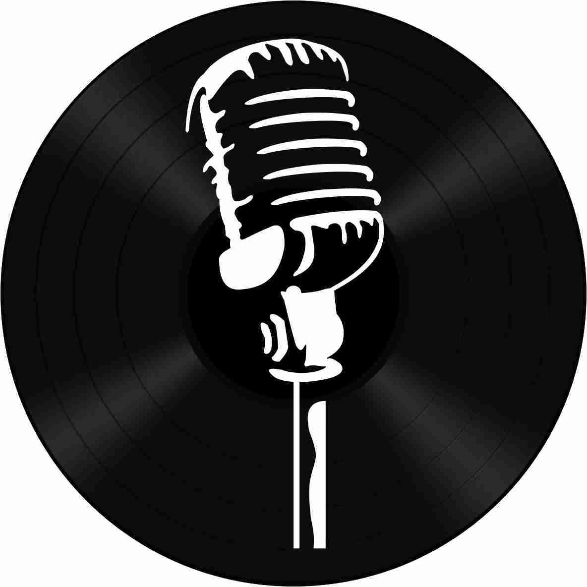 Disco de Vinil Decorativo Microfone