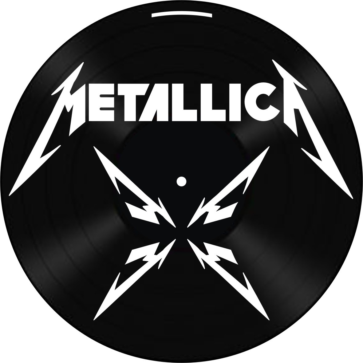 Disco de Vinil Decorativo Metallica