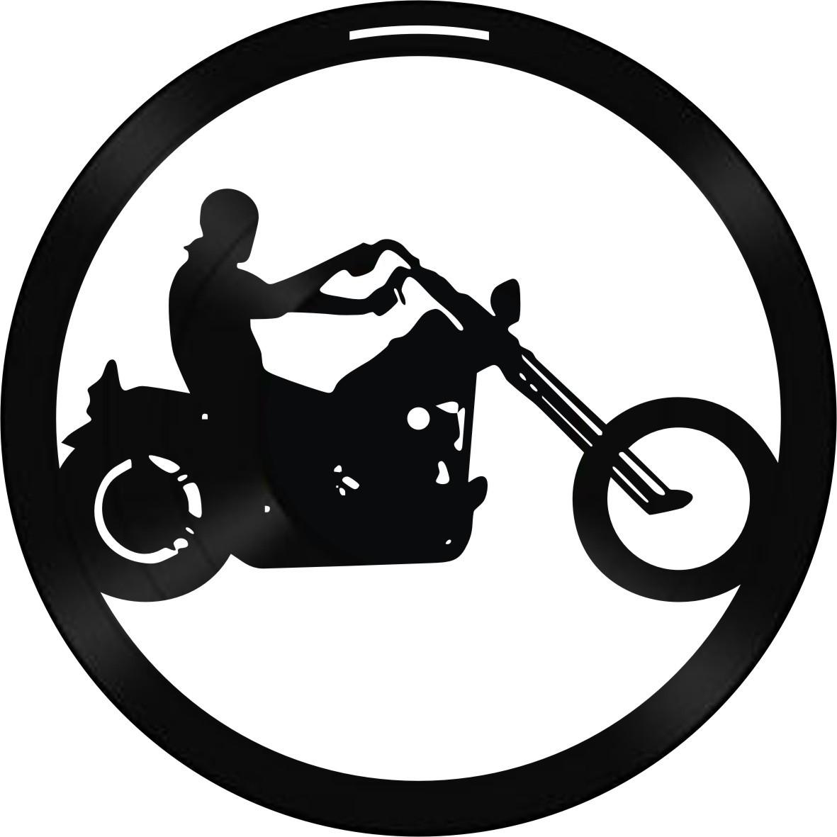 Disco de Vinil Decorativo Motociclista
