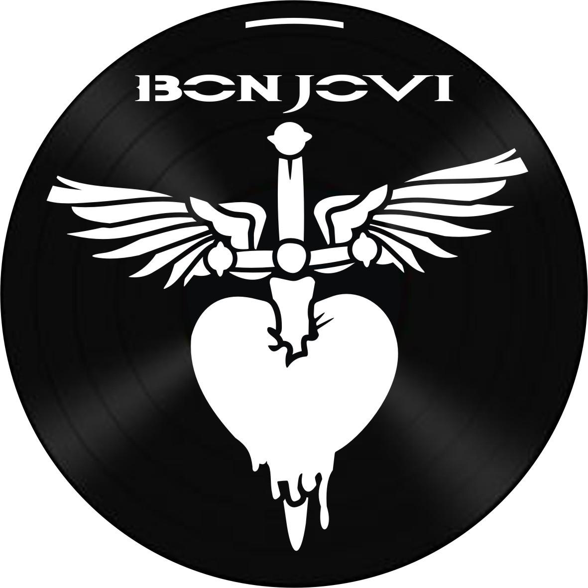 Disco de Vinil Decorativo Bon Jovi