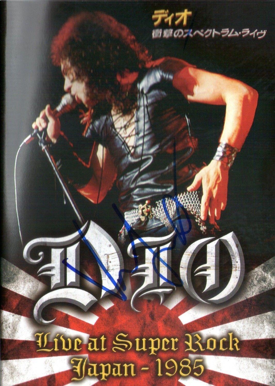 DVD Dio Live At Super Rock Japan 1985 Autografado
