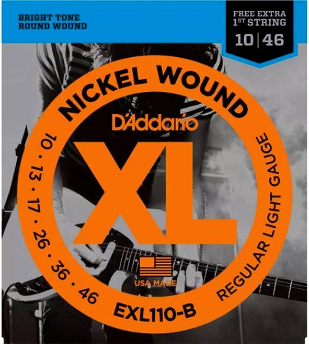 Encordoamento D'ADDARIO EXL110-B 0.010-0.046 Para Guitarra