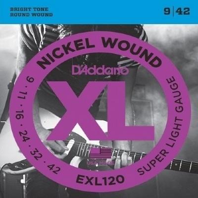 Encordoamento D'ADDARIO EXL120-B 0.09-0.042 Para Guitarra