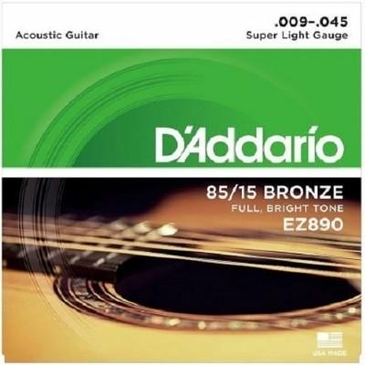 Encordoamento D'ADDARIO EZ890-B 0.09-0.045 Para Violão Aço