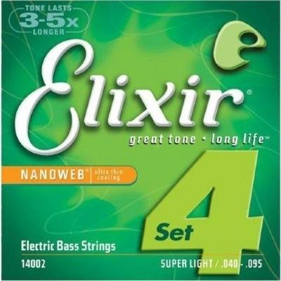 Encordoamento ELIXIR NANOWEB .040-095 Para Baixo 4 Cordas